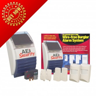 AEI Security SolarGuard - Special Edition Wireless Alarm System (SG1100ARM2-IR-2RM-2MT)