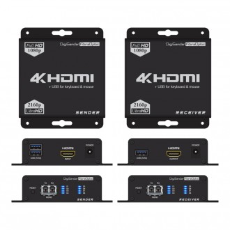 DigiSender 4K Fibre - 4K HDMI Extender with USB (KVM)