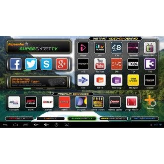 DigiSenderTV SmartConnect - Bar Style Android SUPERSMART Set-top Box (DGTVSC60A)