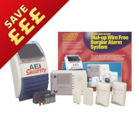AEI Security SolarGuard - Advanced Dial Up Wireless Alarm System (SG4000)