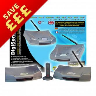 DigiSender X2 - Twin Input 2.4GHz Wireless Video Sender (DG200)